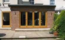 Traditional wooden bifolding doors, Manchester