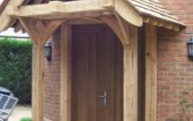Wooden entrance doors, Timber front door