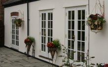 Timber french windows, Cheshire, Lancashire